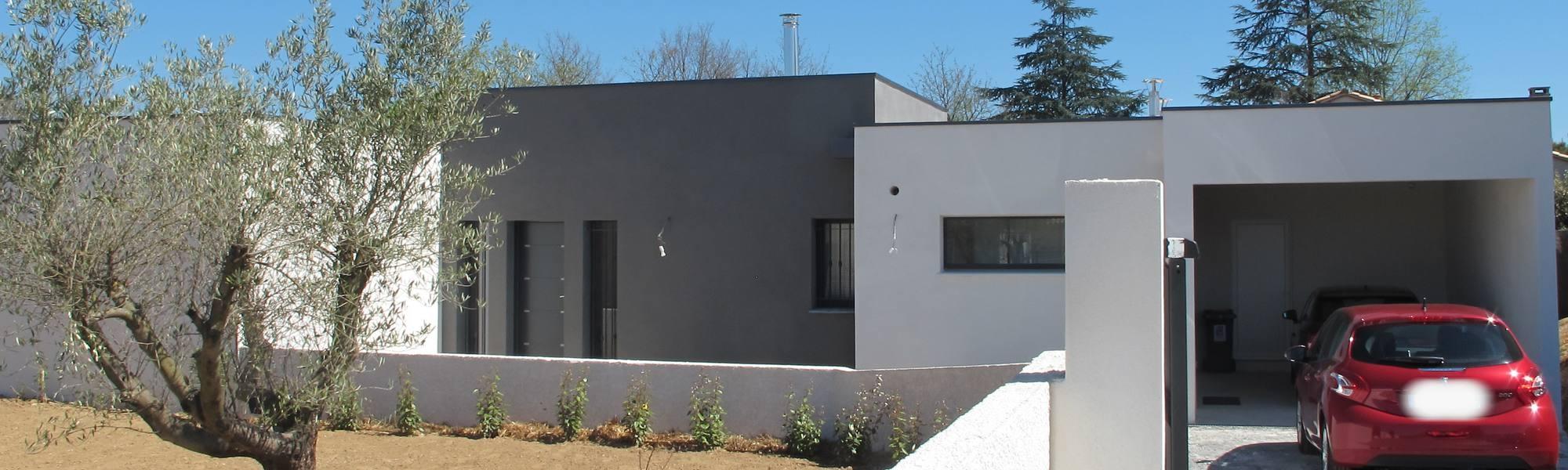 Maison à toit plat contemporaine